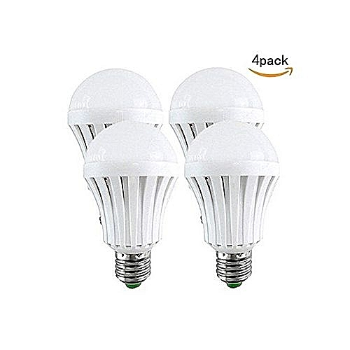 Rechargeable Bulb LED Light Bulb 7W Intelligent Emergency - Energy Saving (4 Pack)