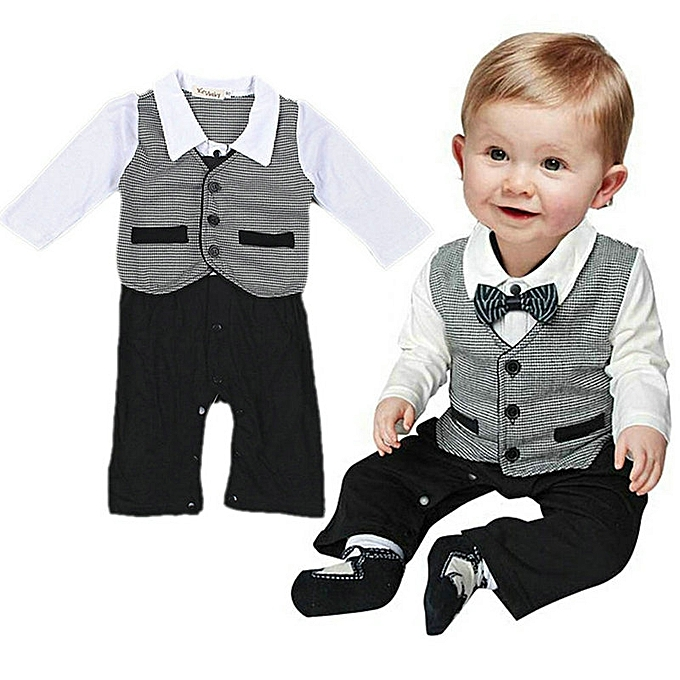 520ccaabe WEIXINBUY Baby Boys Wedding Tuxedo Formal Dressy Party Suit One ...