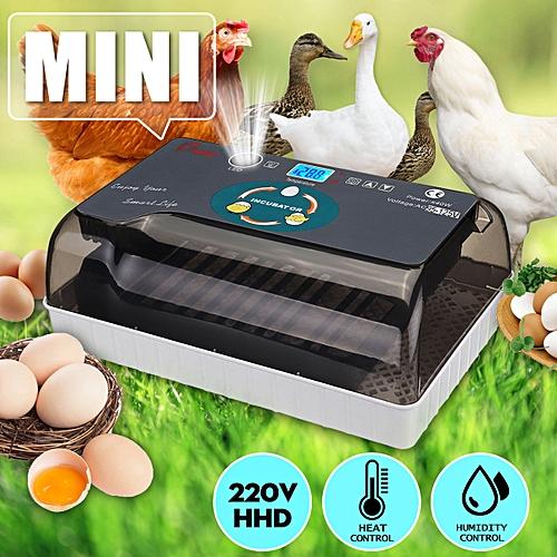 12Pcs Automatic Digital Egg Incubator Hatcher Turning Machine Goose Duck Bird EU