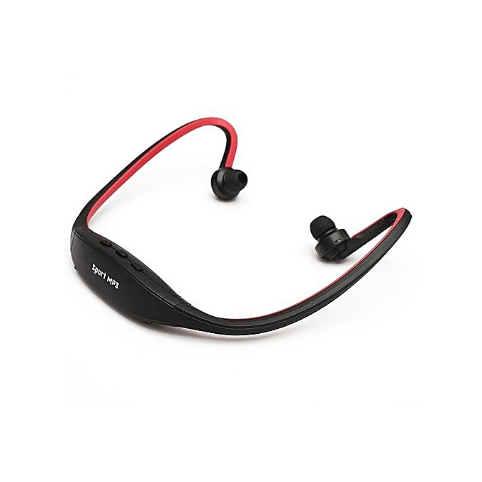 ... Stereo Sport Headset MP3 Music Player Micro SD TF Slot (Red) ...
