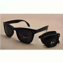 806dceba752 Shatter-proof Folding Sunglasses With Dazzling Sunglasses And Black  Case-black