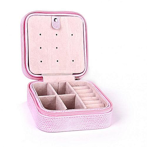Portable Jewelry Box Travel Case Earring Ring Necklace Bracelet Organizer