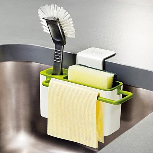 Easy Kitchen Suction Storage Box Bathroom Kitchen Gadget Storage Box Draining Plastic Holder For Home Use