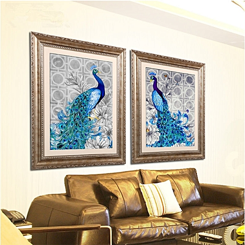 5D Diamonds Plated Embroidery Peacock Painting Home Bedroom Decoration