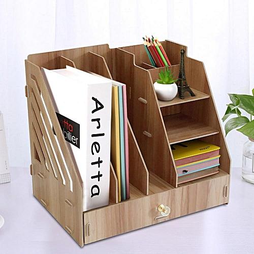 Drawer Type Magazine Book File Office Home Desk Storage Box