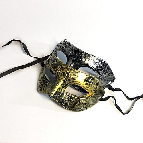 Retro Gentleman Face Mask Venetian Mardi Gras Masquerade Ball Masque Gold