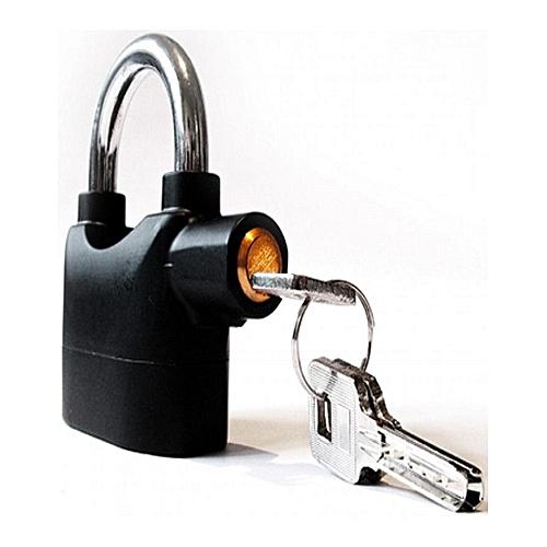Security Pad Lock With Alarm Motion Sensor - Black