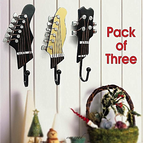 Three Guitar Hooks - Brown