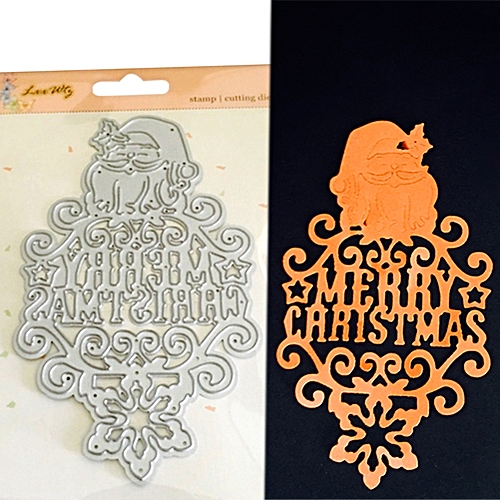 Adv-a Merry Metal Punching Knives Stencils Frame For DIY Scrapbooking