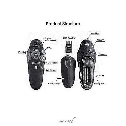 Wireless Presenter Laser Pointers 2.4G RF Remote Control With Red Light USB Flip Laser Pointer