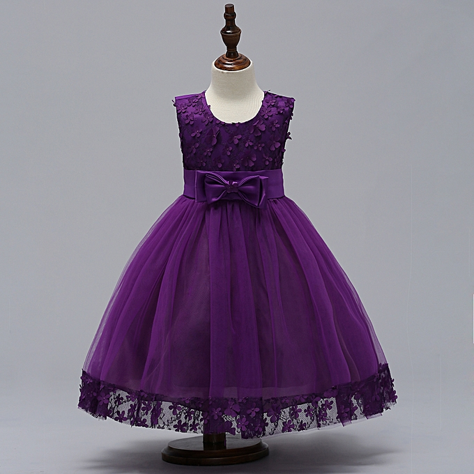 Buy Generic Infant Girl Dress Tutu Clothes Kids Birthday Party Gown ...