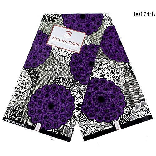 Flower Design Ankara Fabric