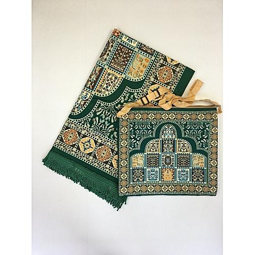 Muslim Prayer Mat With Bag For Travel Bag Prayer Mat ,Islam Prayer Rug With Bag Sets HGP-016 3D Print