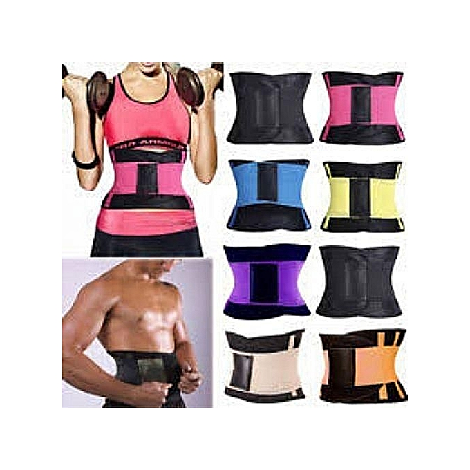 e8393946710 Waist Trainer Power Belt Fitness Body Shaper Adjustable Waist Support  Breathable