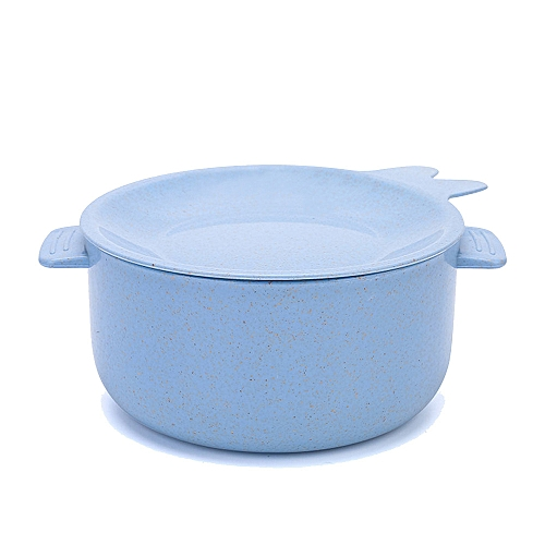 Plastic Bubble With Rice Bowl Creative Student Bowls Of Soup House Cutlery Blue