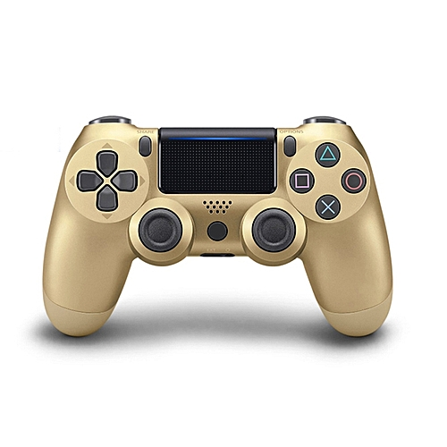 Bluetooth Wireless PS4 Controller For PS4 Vibration Joystick Gamepad PS4 Game Controller Color:Gold