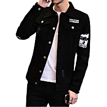 66582b5e69b Fashion Men Denim Jackets Coat Casual Black Jeans Coats Male