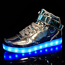 252ad25e59 High Tops Light Up Shoes Metallic Electric Shoes Silver Grande Sports  Children  039 s