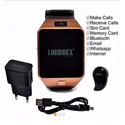Smart Phone Watch For Android Os- Gold