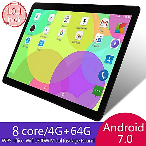 Generic 64GB+4G Android 7.0 Tablet PC Octa 8 Core 2SIM-Black