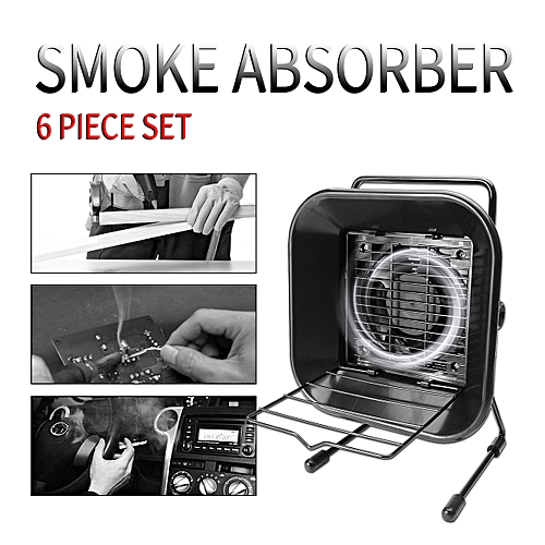 Solder Smoke Fume Absorber Remover Fume Extractor Fan Soldering Air Filter 220V