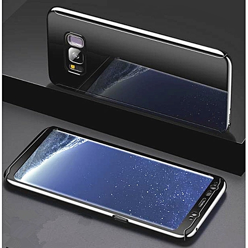 new york 7542e c94d4 Galaxy S8 Sleek Full Body Case Mirror Glass Slim Front Back Hard Case For  Galaxy Galaxy S8 With Tempered Glass Screen Protector 360 Degree Full ...