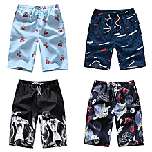b83b4c29a8 4-in-1 Casual Beach Pants Printed Quick Dry Shorts 4 Pieces