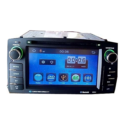 Toyota Corolla 2003 - 2006 Car Stereo DVD Player With Aux Input, USB, SD Slots, Bluetooth For Call & Music + Reverse Camera With 4 Led Lights For Night Usage Too