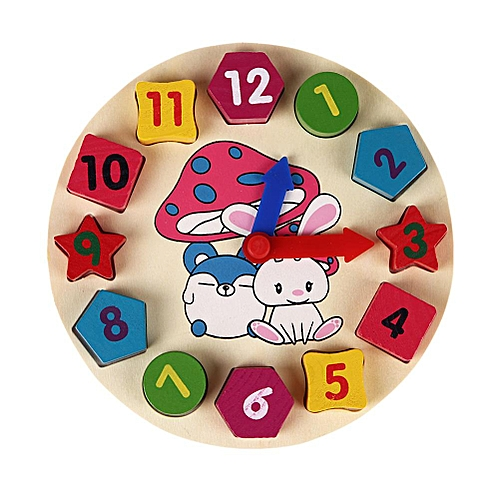 New Wooden 12 Number Colorful Puzzle Toy Baby Educational Bricks Toy