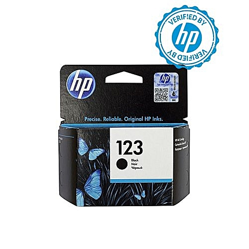 HP 123 Black Ink Cartridge - F6V17AE + FREE HP A4 Paper