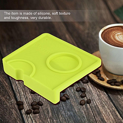 Minxin Non-Slippery Food Safe Silicone Coffee Tamper Mat Espresso Mat Coffee Tamp Cafe Home Green