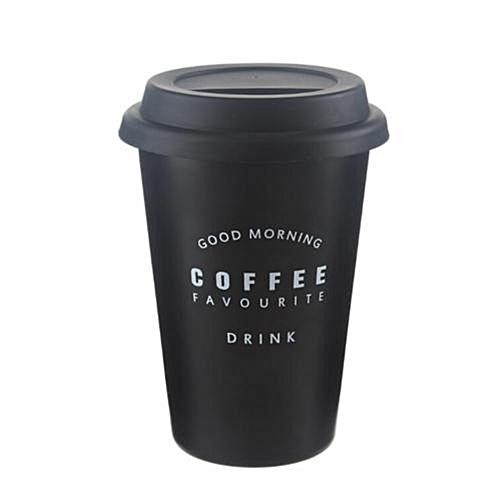 Stainless Steel Coffee Cup Reusable Travel Mug Travel Takeaway & Lid