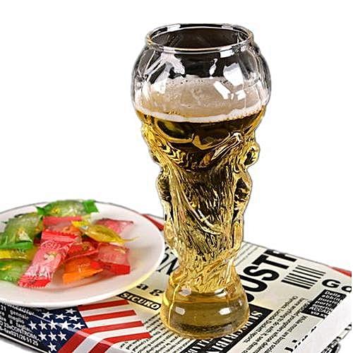 Football Design Beer Glass Football Cup - Transparent
