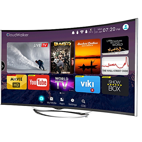 50″ Android Smart Certified Curved TV Polystar
