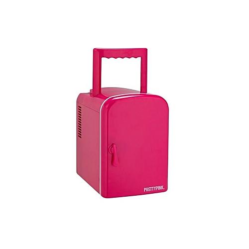 Argos 4 Litre Pink Mini Travel Fridge.