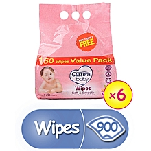 Soft & Smooth Wipes 3X6 In Carton