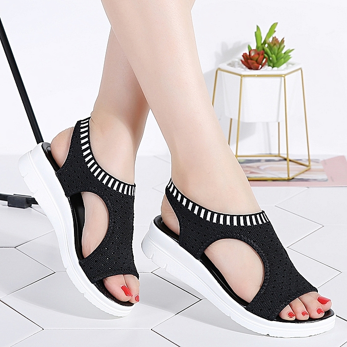 ed16dba4a EUR Size 35-41 New Summer Women Sandals Wedge Heels Open Toe Fish Head  Platform