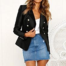 Paidndh Store Women Long Sleeve Blazer Open Front Short Cardigan Suit Jacket  Work Office Coat- 792cfc6acc4c