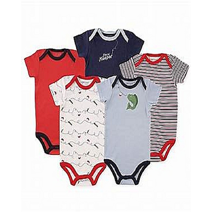 97bd1641b Luvable Friends 5 Pack Body Suit Multi