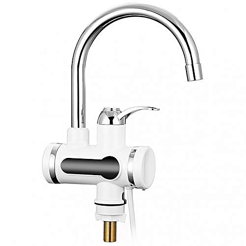 Digital Water Faucet Instant Hot Household Kitchen - Silver
