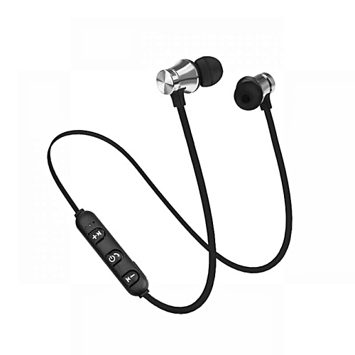 XT11 Sports Bluetooth Earphones Magnetic Smart Stereo Headphones-Silver