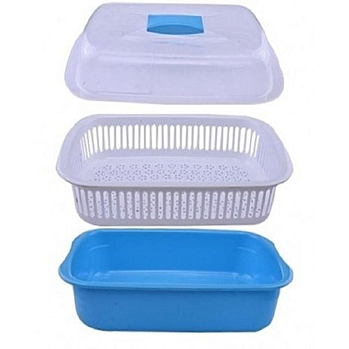 Trendy Salad Bowl With Drainer And Cover...