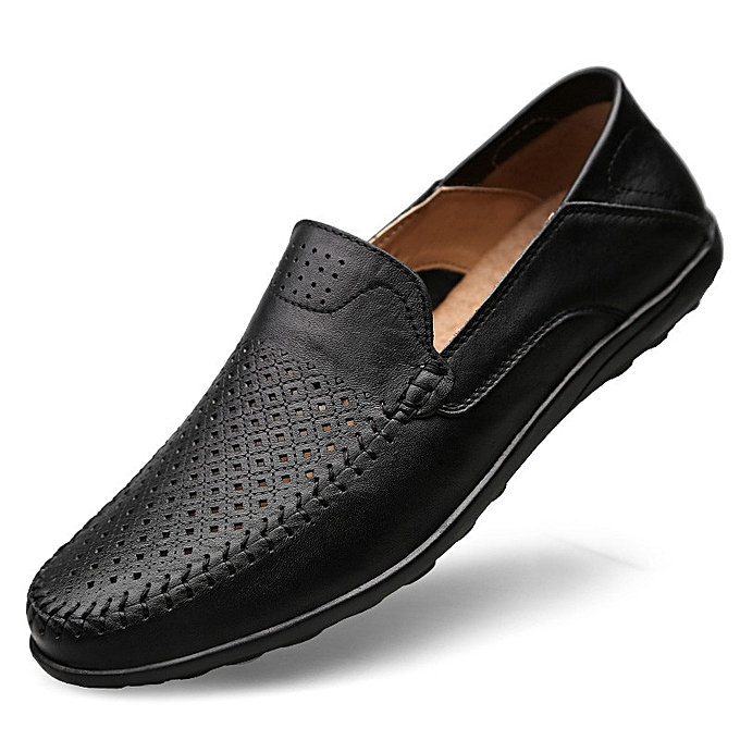 da098d9a8d Genuine Leather Men Formal Shoes British Style Loafers Slip-On High Quality  Fashion Men Leather