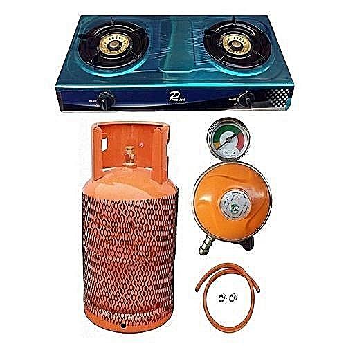 Generic Gas Cooker+12.5kg Cylinder, Regulator Hose+2Clip