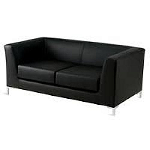 Sofa, Waiting Room Chair, Visitors Chair, Leather Office Chair - Black
