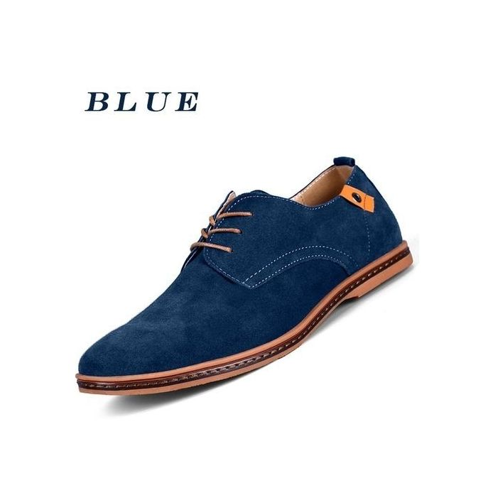 fashion s casual leather shoes blue buy