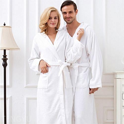 Couples Bathrobe - White