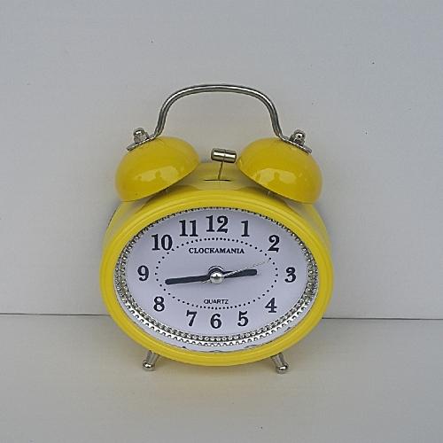 OVAL Bell Alarm Clock - Yellow