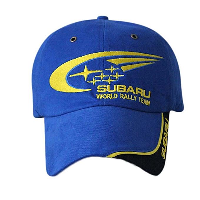 Outdoor SUBARU Rally Racing Cap Cotton Sports Motorcycle Racing Baseball  Caps Car Hats Blue f6062a0cf02