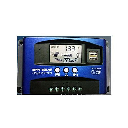 Automatic Identification MPPT Solar Regulator Charge Controller 30A 12V/24V With 2 5V 2A USB Ports